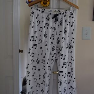 White Music Pajama Pants